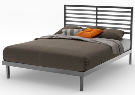 Steel frame beds and headboards